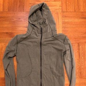 Heathered green Lululemon scuba jacket. Size 8